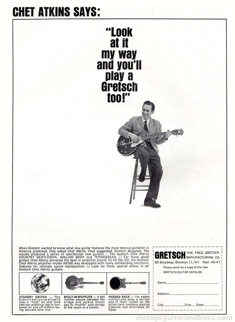 Gretsch advertisement (1964) Chet Atkins Says: Look at it My Way and You