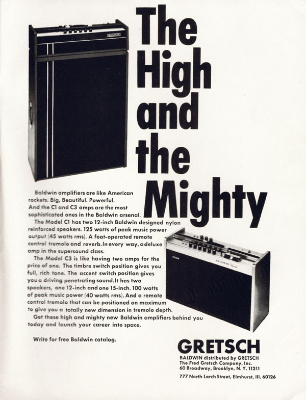 Baldwin advertisement (1971) The High and the Mighty