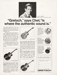 "Gretsch Chet Atkins Hollowbody / Nashville 6120 - ""Gretsch"", Says Chet, ""Is Where The Authentic Sound Is."""