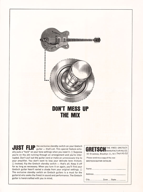 Gretsch advertisement (1963) Don