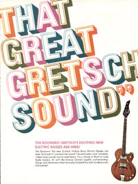 The 1967 Gretsch boomers bass guitar catalogue