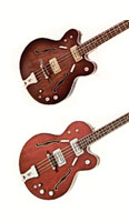 Gretsch 6072 Country Gentleman and 6073 bass guitars