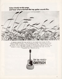 Gretsch Flat tops - Listen Closely to this Page and Hear what a Gretsch Flat Top Guitar Sounds Like