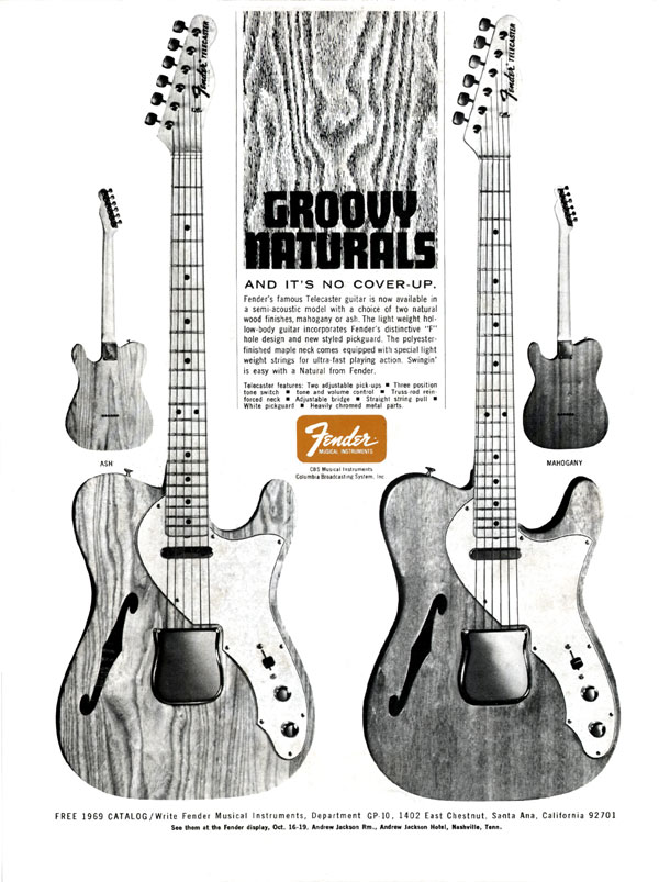 Fender advertisement (1968) Groovy Naturals