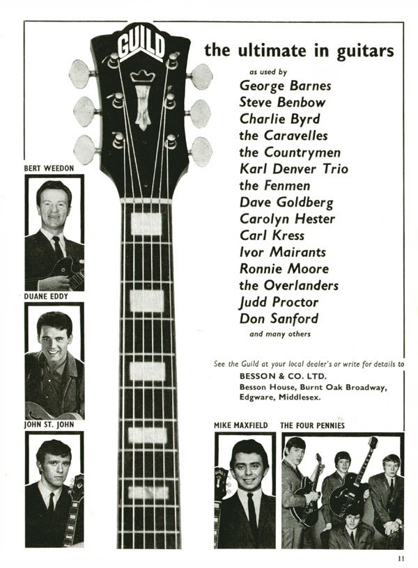 Guild advertisement (1964) Guild - the ultimate in guitars