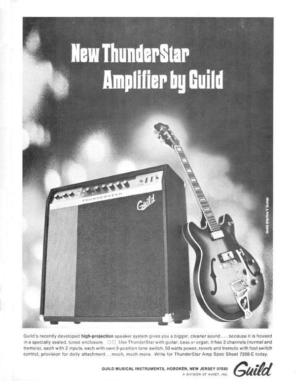 Guild advertisement (1969) New Thunderstar Amplifier By Guild