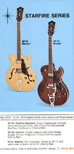 1969 Guild catalogue page 3