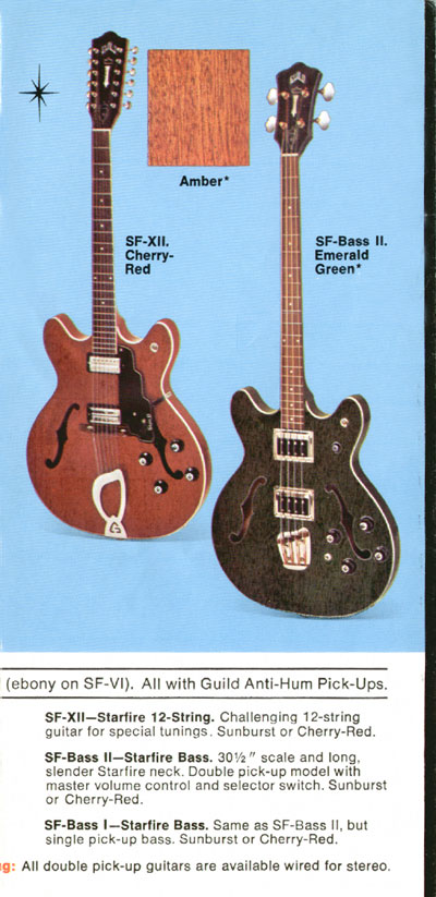 1969 Guild catalogue page 4 - SF-XII, SF-bass-I and SF-bass-II