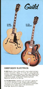 1969 Guild catalogue page 7