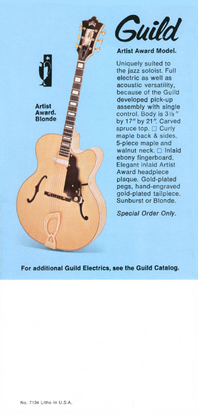 1969 Guild catalogue page 8 - Guild Artist Award