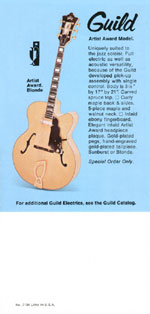 1969 Guild catalogue page 8
