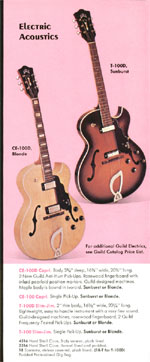 1970 Guild catalogue page 5