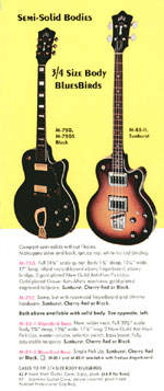 1970 Guild catalogue page 8