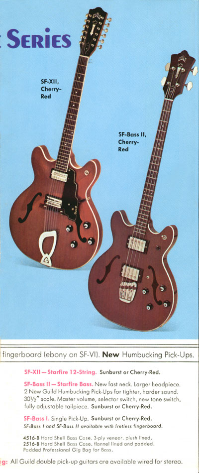 1971 Guild catalogue page 4 - SF-XII, SF-bass-I and SF-bass-II
