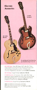 1971 Guild catalogue page 5