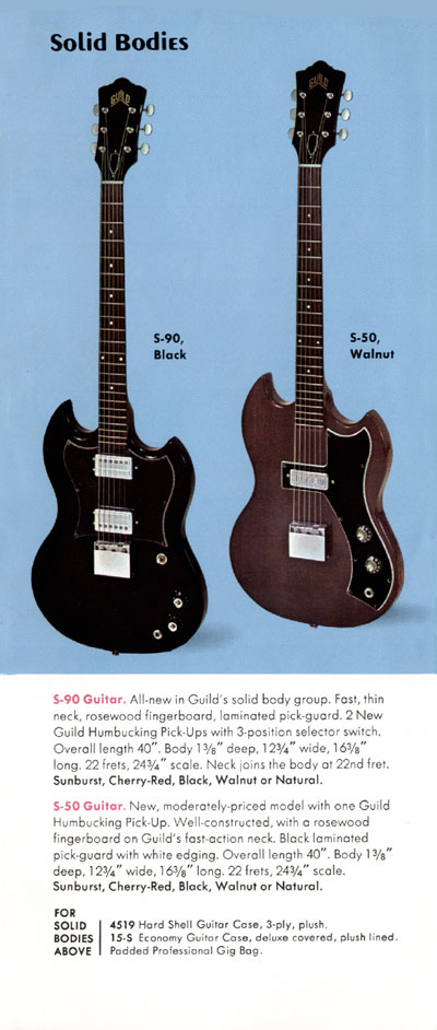 1971 Guild catalogue page 9 - the S-50 and S-90