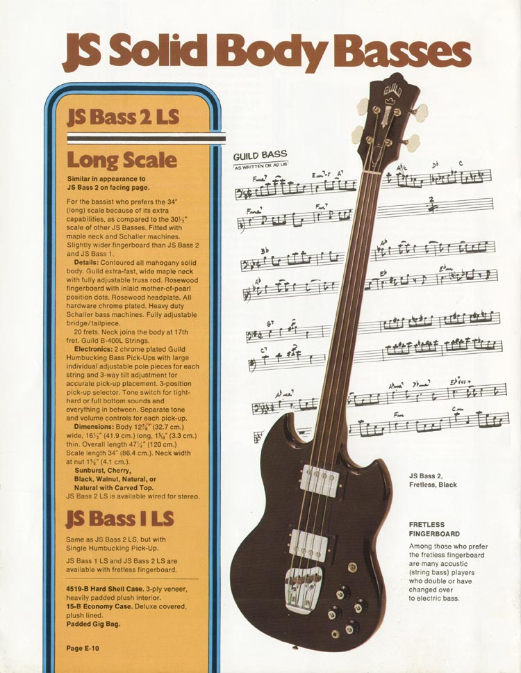 1975 Guild catalogue page 10