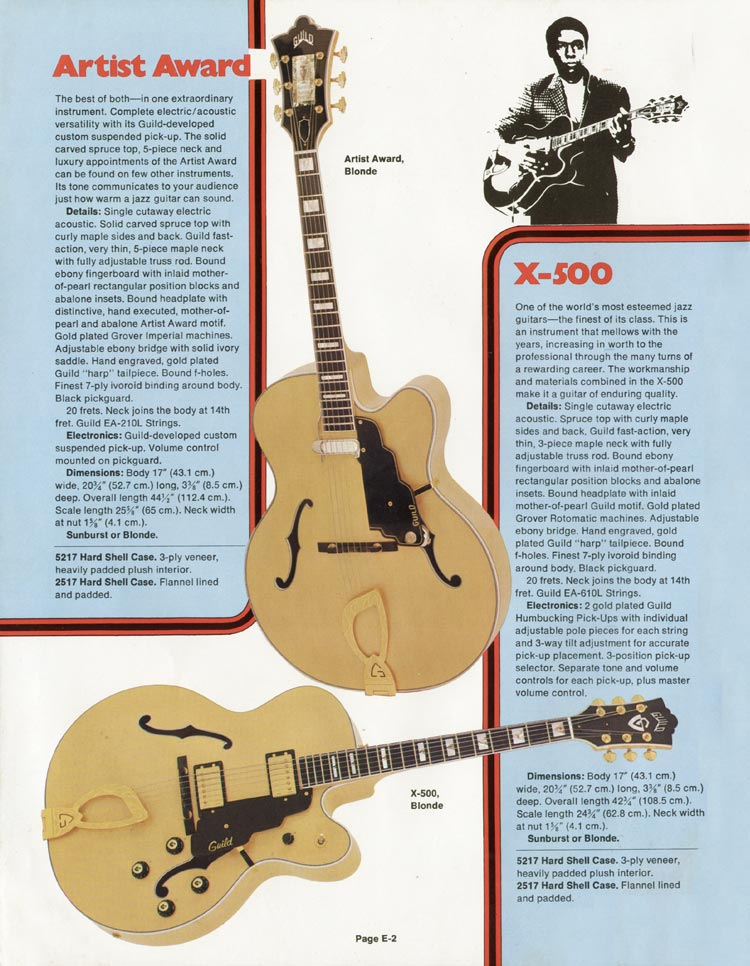 1975 Guild catalogue page 2