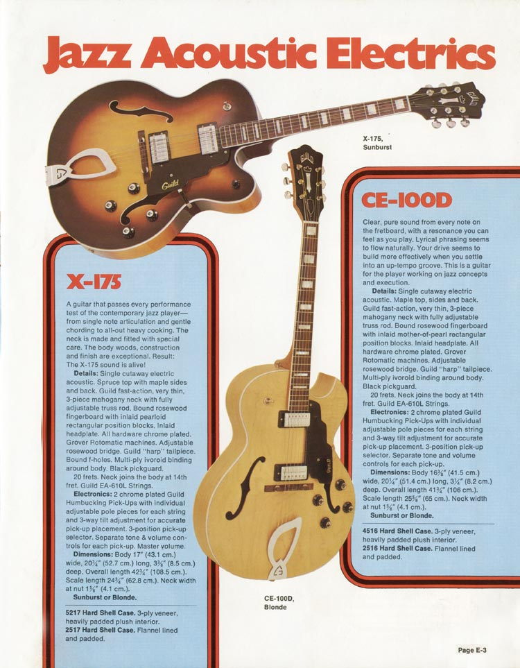 1975 Guild catalogue page 3