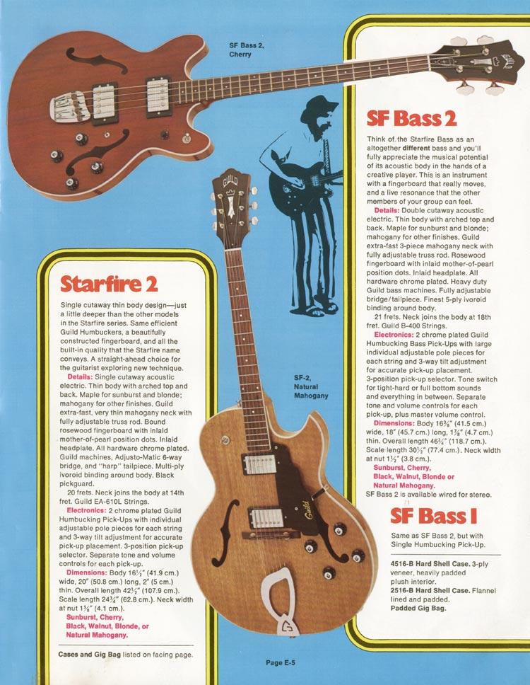 1975 Guild catalogue page 5