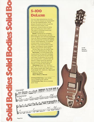 1975 Guild catalogue page 6