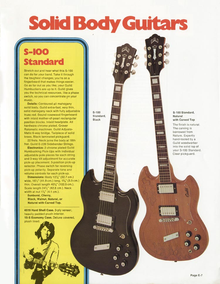 1975 Guild catalogue page 5