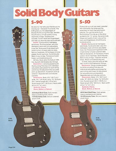 1975 Guild catalogue page 8