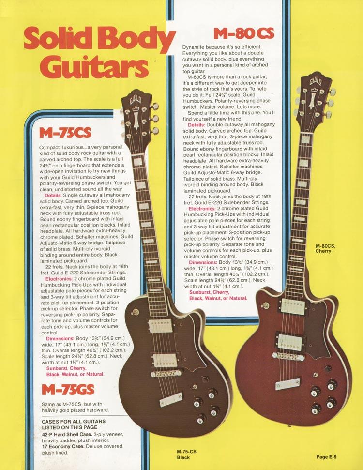 1975 Guild catalogue page 9