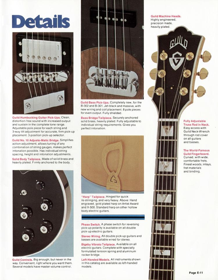 1978 Guild catalogue page 11