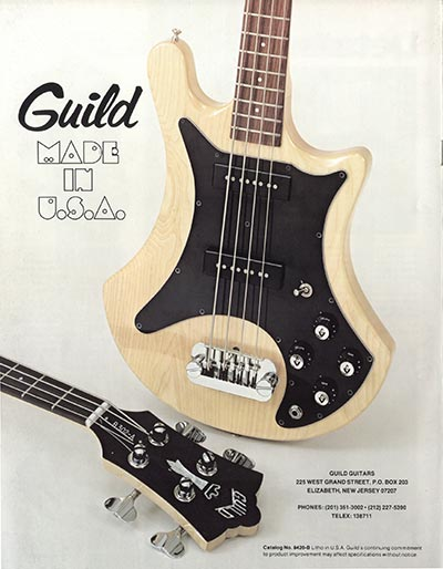 1978 Guild catalogue back cover