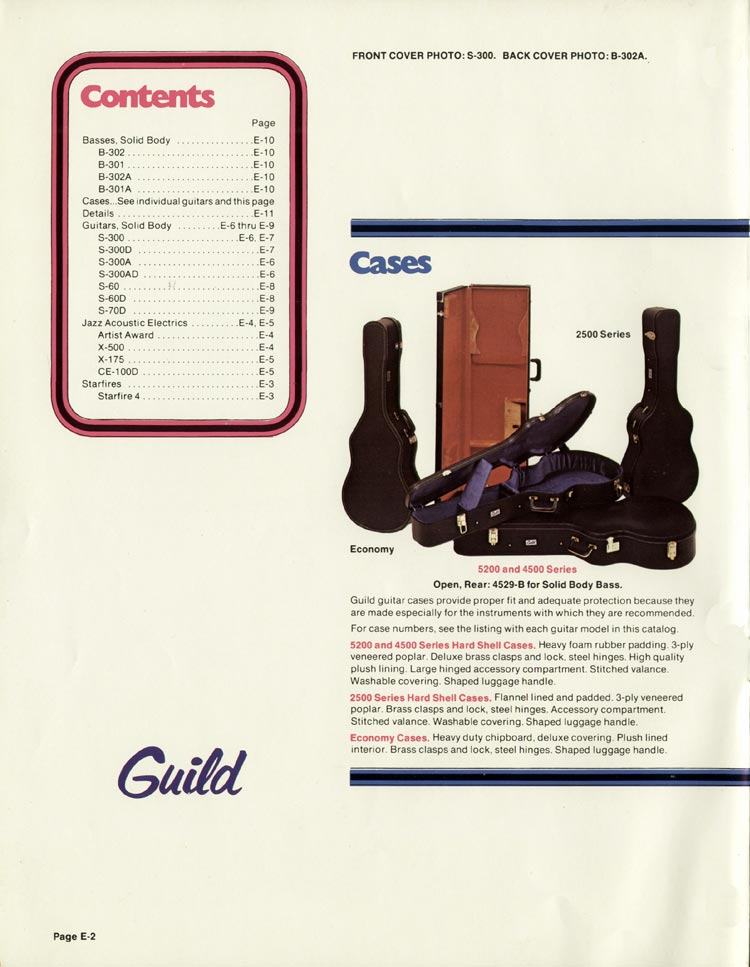 1978 Guild catalogue page 2
