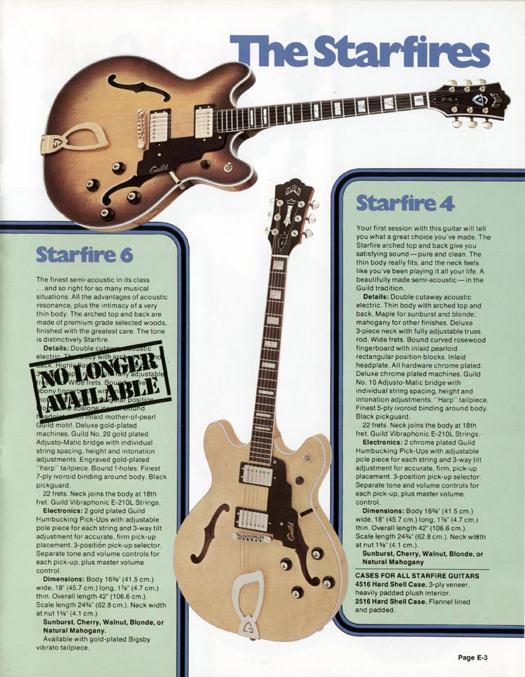 1978 Guild catalogue page 3
