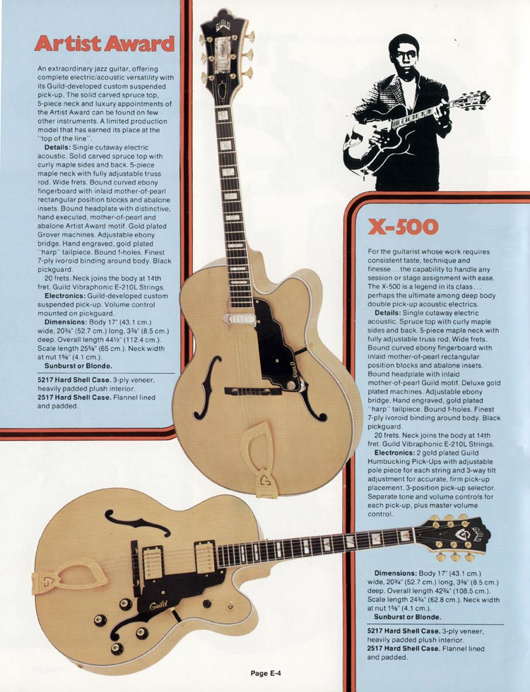 1978 Guild catalogue page 4