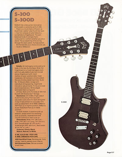 1978 Guild catalogue page 7