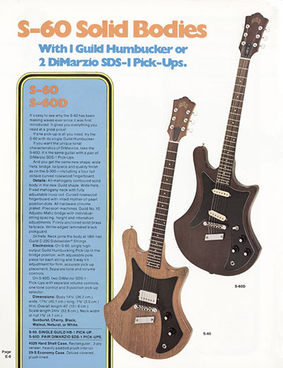 1978 Guild catalogue page 8