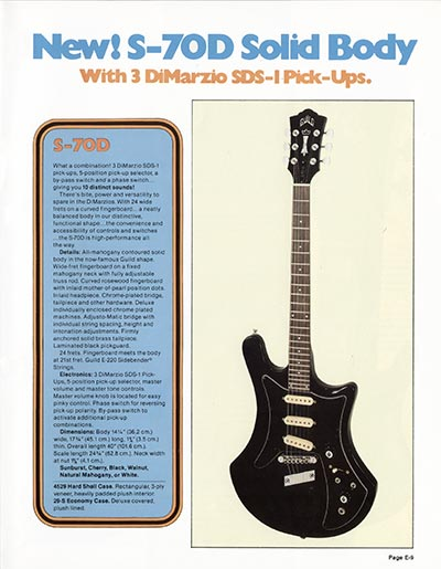1978 Guild catalogue page 9