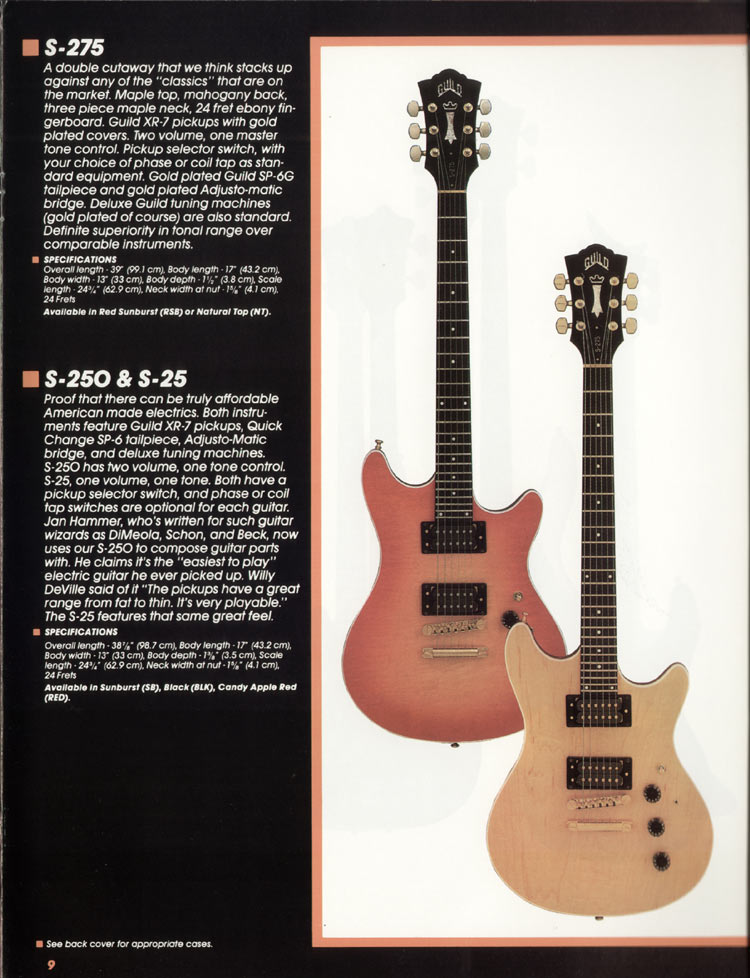 1982 Guild catalogue page 11 - Guild S-275