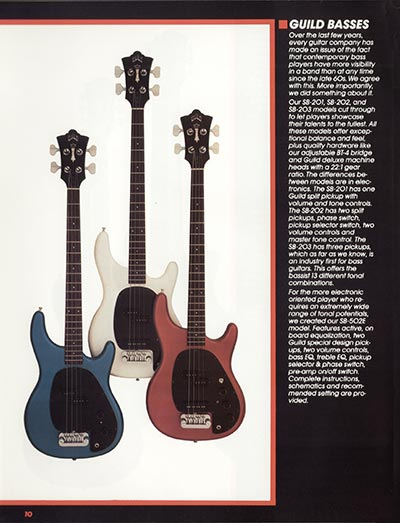 1982 Guild catalogue page 12