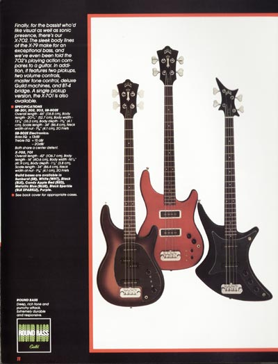 1982 Guild catalogue page 13