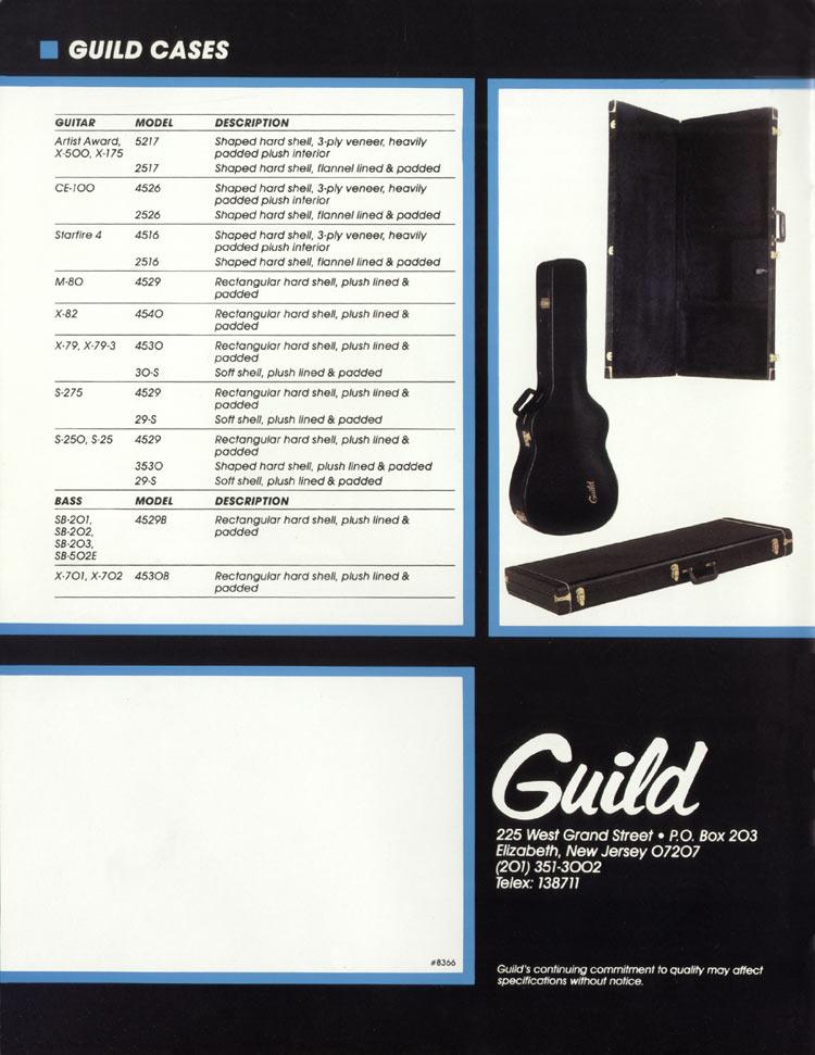 1982 Guild catalogue page 16