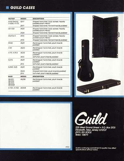 1982 Guild catalogue page 16