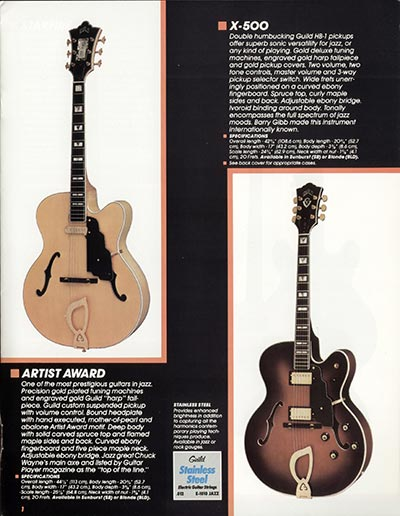 1982 Guild catalogue page 3