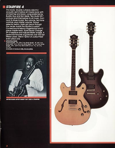 1982 Guild catalogue page 5