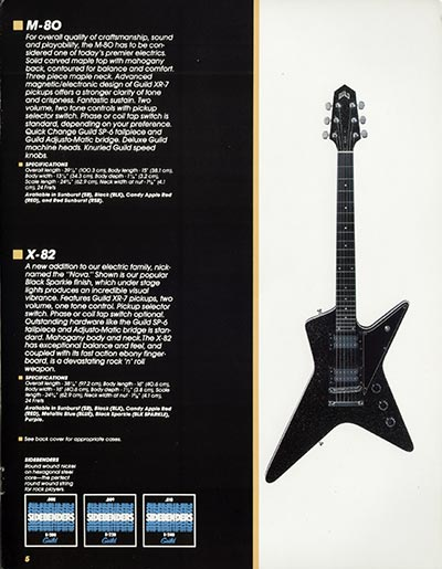 1982 Guild catalogue page 7