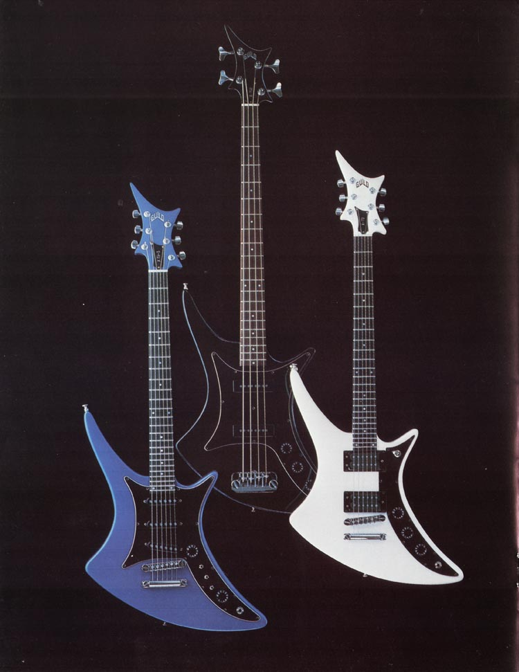 1982 Guild catalogue page 8 - X-79, X-79-3 and X-702 Bass
