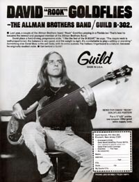 "Guild B-302 - David ""Rook"" Goldflies - the Allman Brothers Band / Guild B-302"