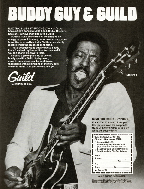 Guild advertisement (1979) Buddy Guy and Guild