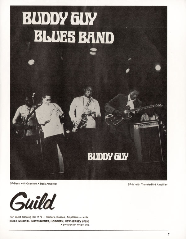Guild advertisement (1970) Buddy Guy Blues Band