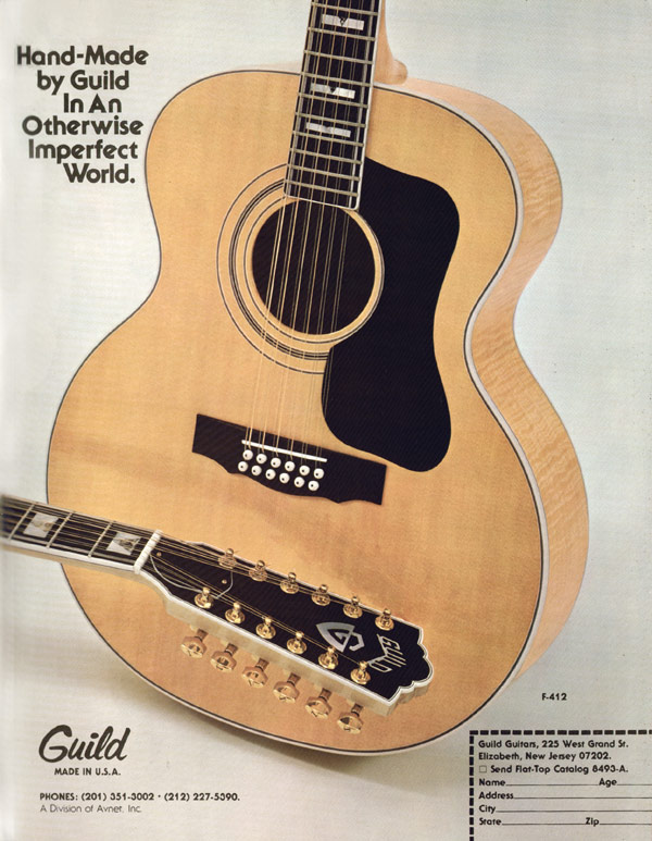 Guild advertisement (1979) Hand-Made By Guild, In An Otherwise Imperfect World
