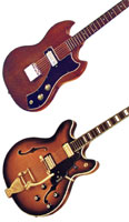 Guild S-90 and Starfire SF-VII guitars
